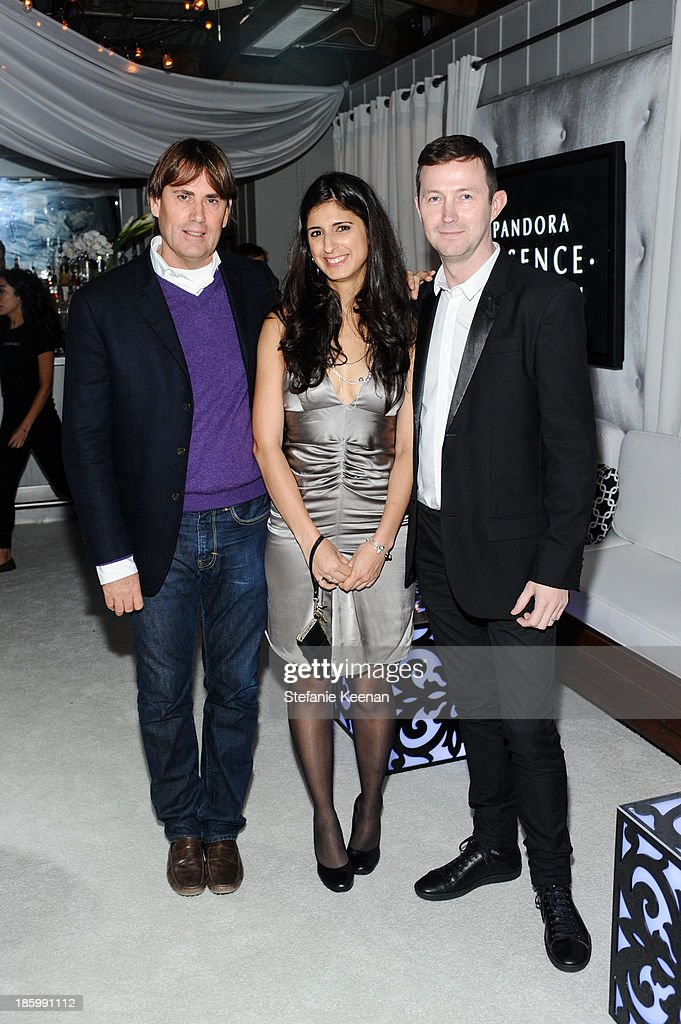 Lee Antony Gray, Nina Tandon and Stephan Fairchild attend PANDORA ESSENCE COLLECTION North America Launch Party at SkyBar at the Mondrian Los Angeles on October 26, 2013 in West Hollywood, California.