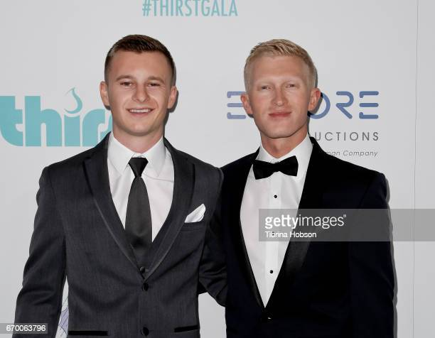 Lee Baker and Seth Maxwell attend the 8th annual Thirst Gala at The Beverly Hilton Hotel on April 18 2017 in Beverly Hills California