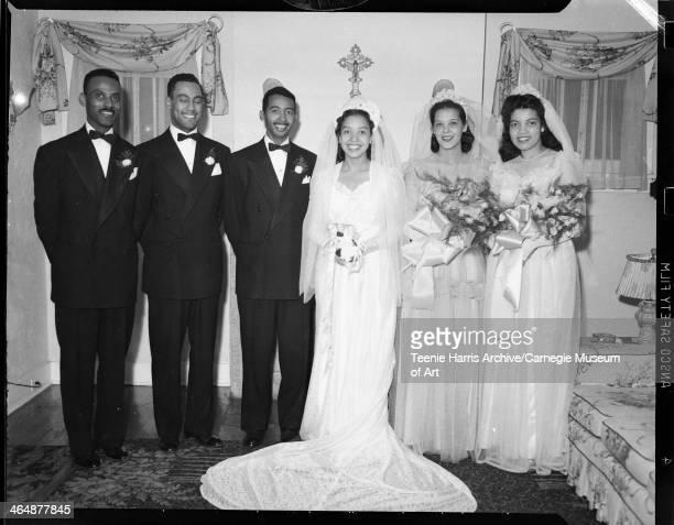 Charles Johnson best man Tommy Roberts groom Julius Banks bride Nora Elizabeth Lee Banks maid of honor Jerry Washington and Eva Ruth Greenlee...