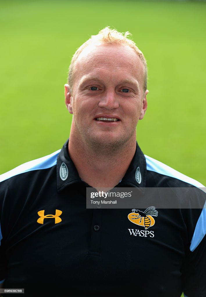Lee Blackett Backs Coach poses for a portrait during the Wasps squad photocall for the 20162017 Aviva Premiership Rugby season on August 17 2016 in...