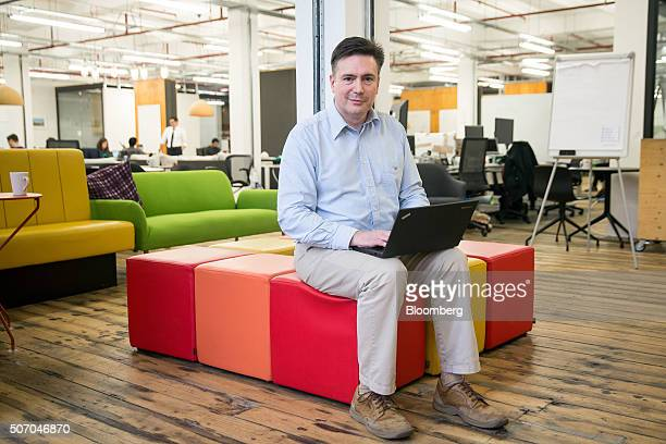 Lee Braine a senior manager in Barclays Plc's investment bank poses for photograph at the Rise London accelerator setup by Barclays Plc in 2003 and...