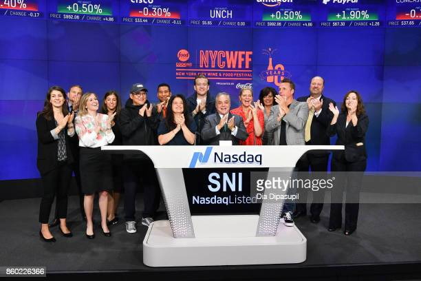 Lee Brian Schrager founder and director of the Food Network Cooking Channel New York City Wine Food Festival presented by CocaCola rings the NASDAQ...