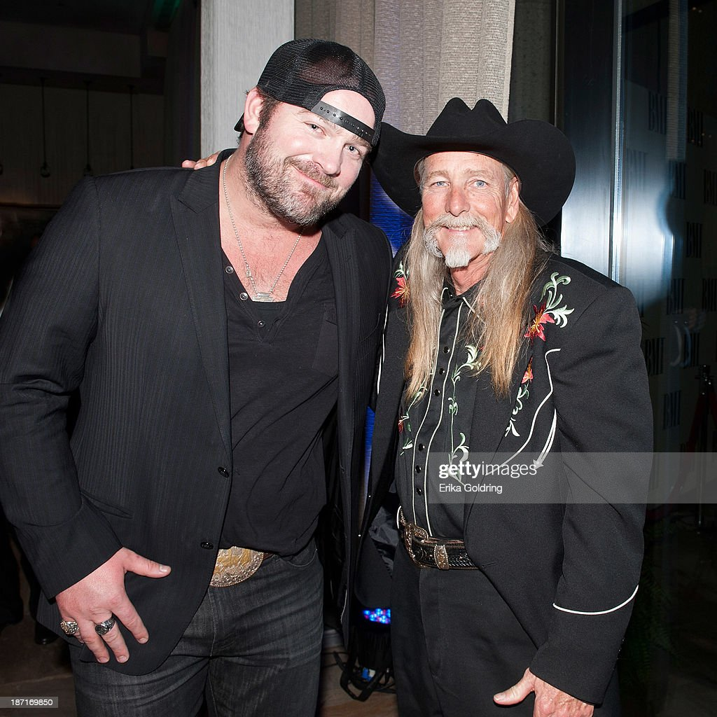 <a gi-track='captionPersonalityLinkClicked' href=/galleries/search?phrase=Lee+Brice&family=editorial&specificpeople=4290648 ng-click='$event.stopPropagation()'>Lee Brice</a> and Dean Dillon attend the 61st annual BMI Country awards on November 5, 2013 in Nashville, Tennessee.