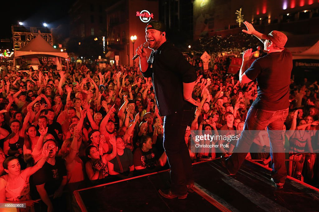 Lee Brice and Jerrod Neimann perform during Rodney Atkins 4th Annual Music City Gives Back on June 3, 2014 in Nashville, Tennessee.