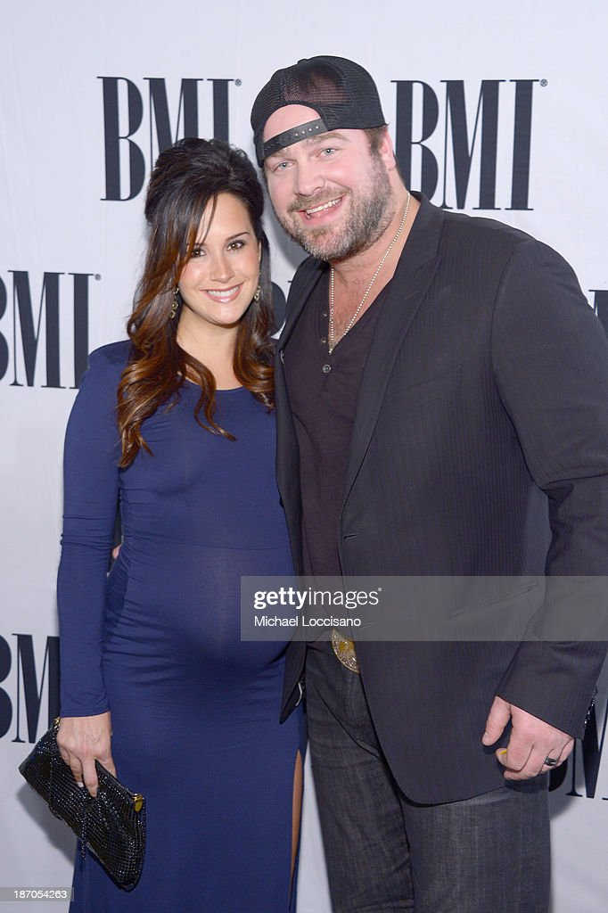 Lee Brice (R) and Sara Rebeley attend the 61st annual BMI Country awards on November 5, 2013 in Nashville, Tennessee.
