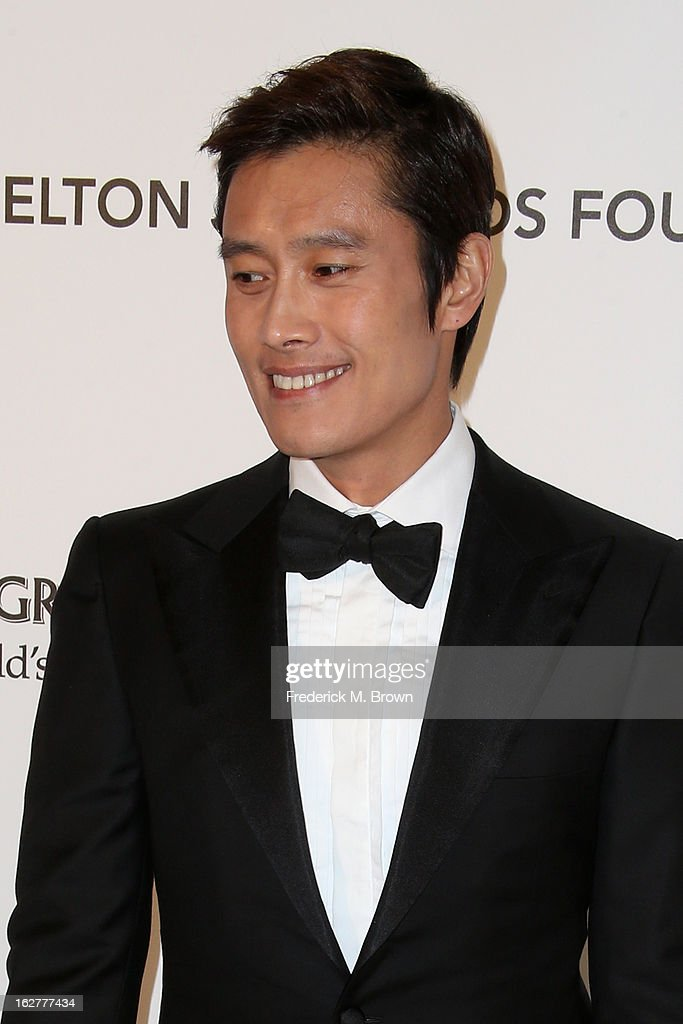 Lee Byung-Hun arrives at the 21st Annual Elton John AIDS Foundation's Oscar Viewing Party on February 24, 2013 in Los Angeles, California.