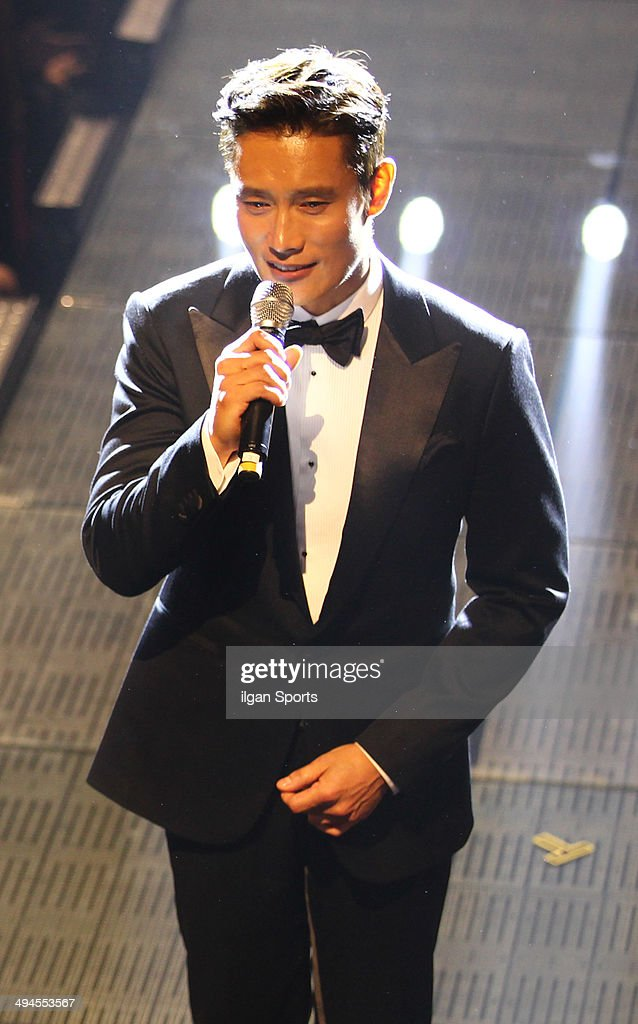 <a gi-track='captionPersonalityLinkClicked' href=/galleries/search?phrase=Lee+Byung-Hun&family=editorial&specificpeople=829983 ng-click='$event.stopPropagation()'>Lee Byung-Hun</a> speaks during the 50th Paeksang Arts Awards at Grand Peace Palace in Kyung Hee University on May 27, 2014 in Seoul, South Korea.