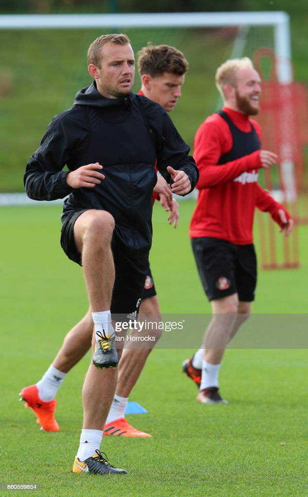 Lee Cattermole during a Sunderland AFC training session at The Academy of Light on October 12, 2017 in Sunderland, England.