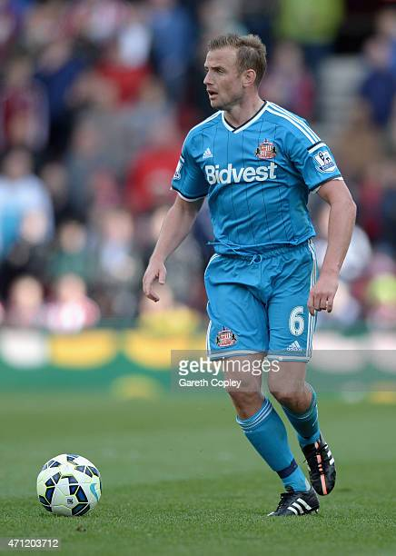 Lee Cattermole of Sunderland during the Premier League at Britannia Stadium on April 25 2015 in Stoke on Trent England