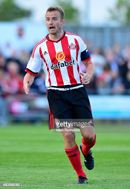 Lee Cattermole of Sunderland in action during a pre season friendly between Darlington and Sunderland at Heritage Park on July 9 2015 in Bishop...