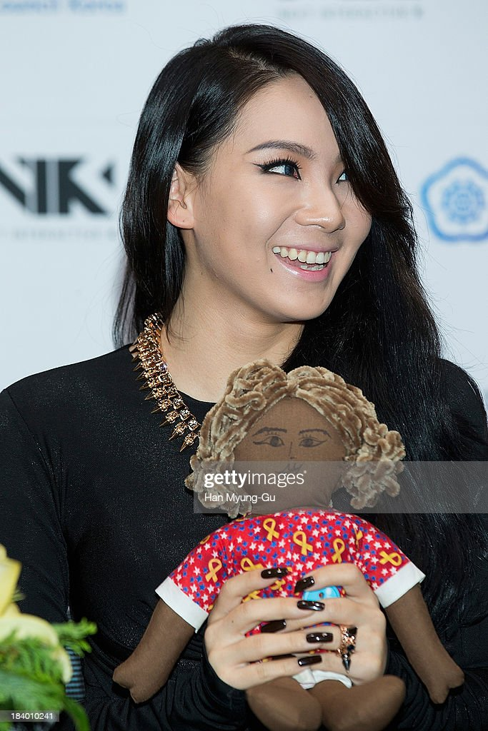 Lee Chae-Rin (CL) of South Korean girl group 2NE1 attends the press conference to announce the 2NE1 being appointed as honorary ambassador for 2013 KBEE (Korea Brand and Entertainment Expo) in London at Kotra on October 10, 2013 in Seoul, South Korea.