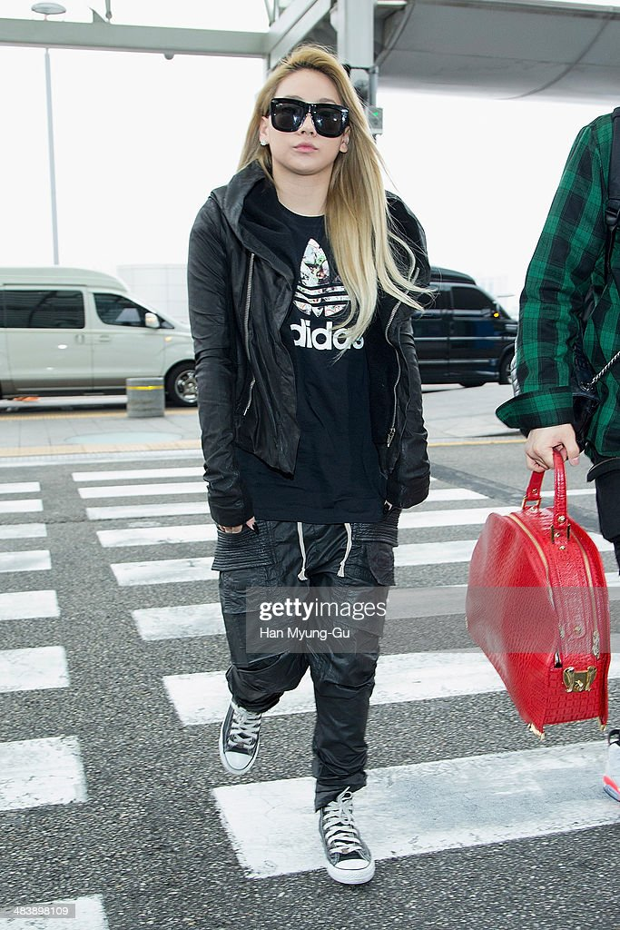 Lee Chae-Rin (CL) of South Korean girl group 2NE1 is seen on departure at Incheon International Airport on April 10, 2014 in Incheon, South Korea.