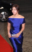 Lee ChaeYoung arrives at the red carpet of the 2013 KBS drama awards at KBS Hall on December 31 2013 in Seoul South Korea