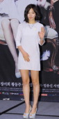Lee ChaeYoung attends the 'Cuckoo Nest' press conference at Banyan Tree on May 29 2014 in Seoul South Korea