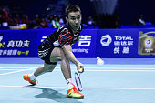 Lee Chong Wei of China competes against K Srikanth of India during 2015 Sudirman Cup BWF World Mixed Team Championships on May 11 2015 in Dongguan...
