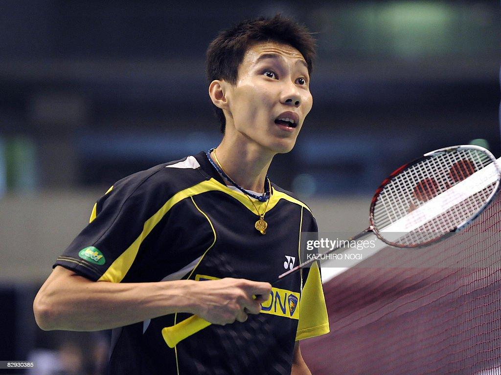 Lee Chong Wei of Malaysia questions a li