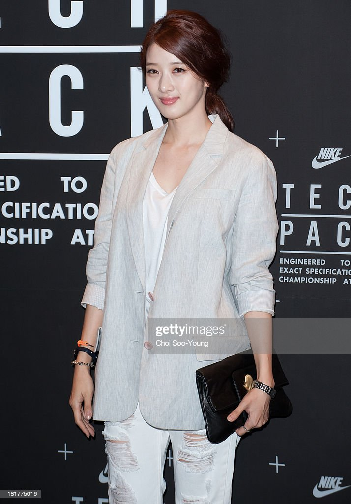 Lee Chung-Ah attends the 'NIKE Tech Pack' showcase at the Shilla hotel on September 24, 2013 in Seoul, South Korea.