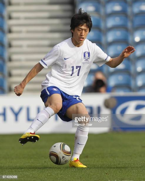 Lee ChungYong of Korea in action during the International Friendly match between Ivory Coast and Republic of Korea played at Loftus Road on March 3...