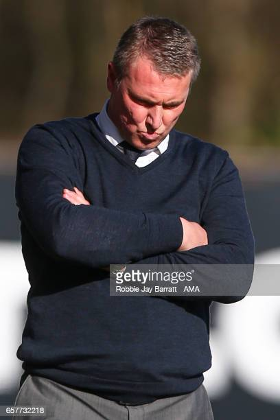 Lee Clark head coach / manager of Bury during the Sky Bet League One match between Bury and Fleetwood Town at Gigg Lane on March 25 2017 in Bury...