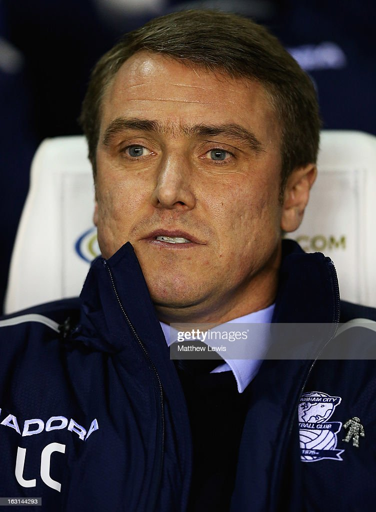 Lee Clark, manager of Birmingham City looks on during the npower Championship match between Birmingham City and Blackpool at St Andrews on March 5, 2013 in Birmingham, England.