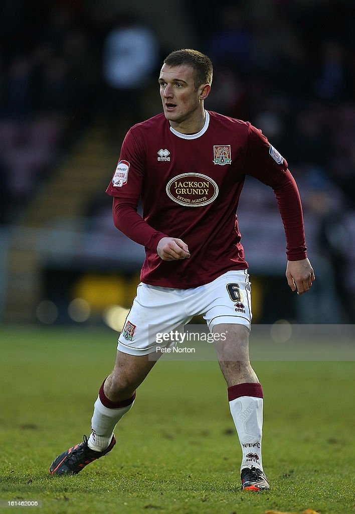 Lee Collins of Northampton Town in action during the npower League Two match between Northampton Town and Rochdale at Sixfields Stadium on February 9, 2013 in Northampton, England.
