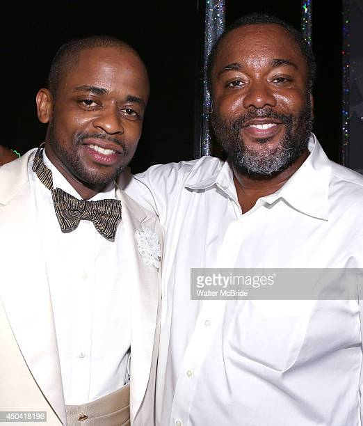 Lee Daniels and Dule Hill backstage after Patti Labelle's debut in 'After Midnight' at the Brooks Atkinson Theatre on June 10 2014 in New York City