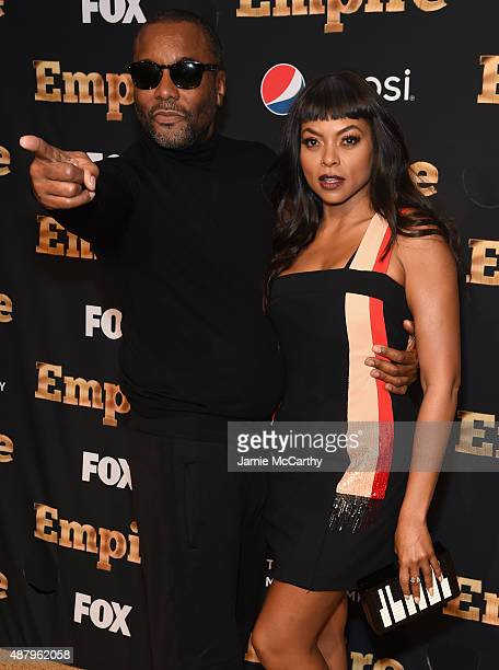Lee Daniels and Taraji P Henson attend the 'Empire' Series Season 2 New York Premiere at Carnegie Hall on September 12 2015 in New York City