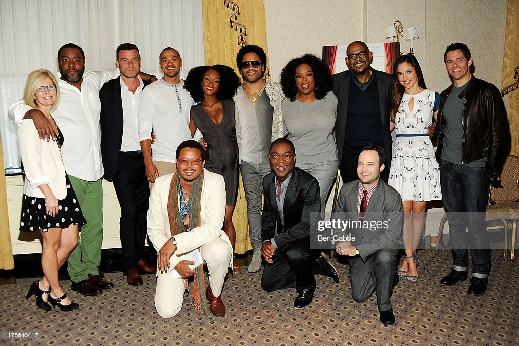 Lee Daniels, Liev Schreiber, Jesse Williams, Yaya Alafia, Lenny Kravitz, Oprah Winfrey, Forest Whitaker, Minka Kelly, James Marsden, Terrence Howard, David Oyelowo and Danny Strong attend the press conference for The Weinstein Company's LEE DANIELS' THE BUTLER at Waldorf Astoria Hotel on August 5, 2013 in New York City.