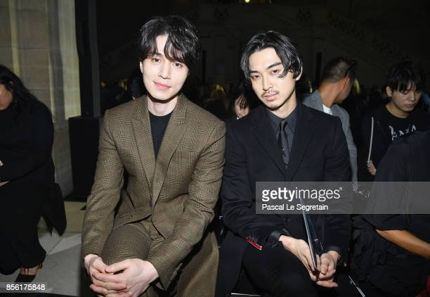 Lee Dongwook and Shota Matsuda attend the Givenchy show as part of the Paris Fashion Week Womenswear Spring/Summer 2018 on October 1 2017 in Paris...
