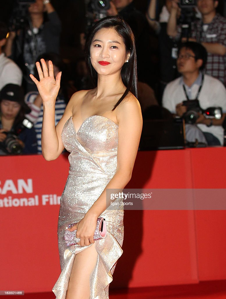 Lee Eun-Woo arrives for the opening ceremony of the 18th Busan International Film Festival (BIFF) at Busan Cinema Center on October 3, 2013 in Busan, South Korea.