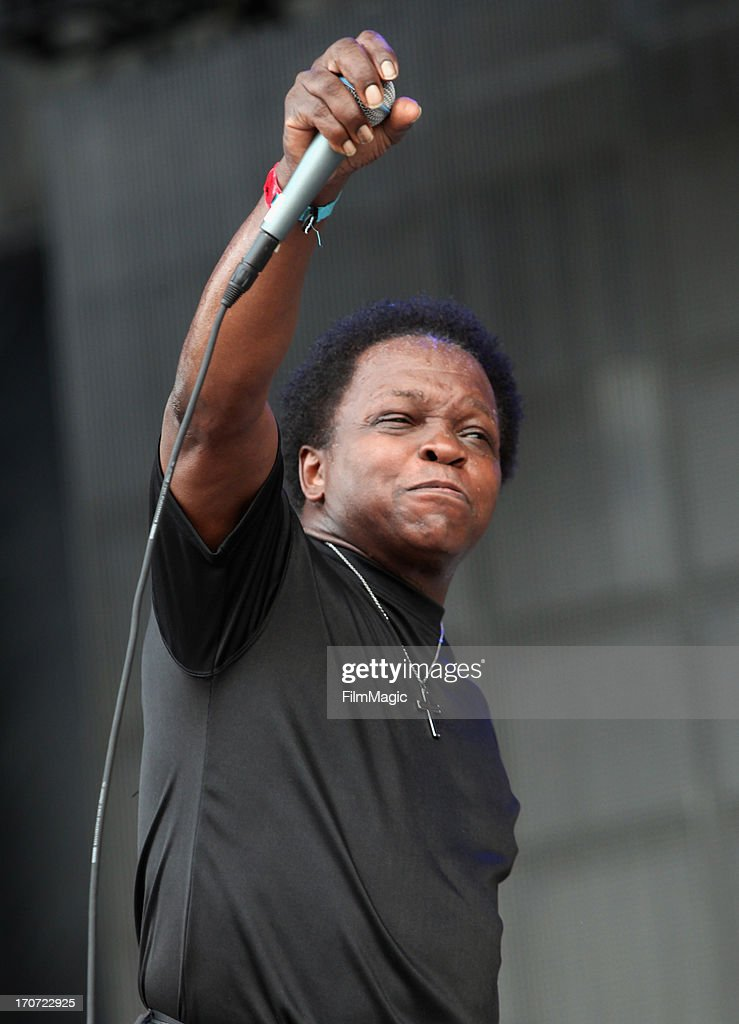 Lee Fields of Lee Fields & The Expressions performs onstage at What Stage during day 4 of the 2013 Bonnaroo Music & Arts Festival on June 16, 2013 in Manchester, Tennessee.