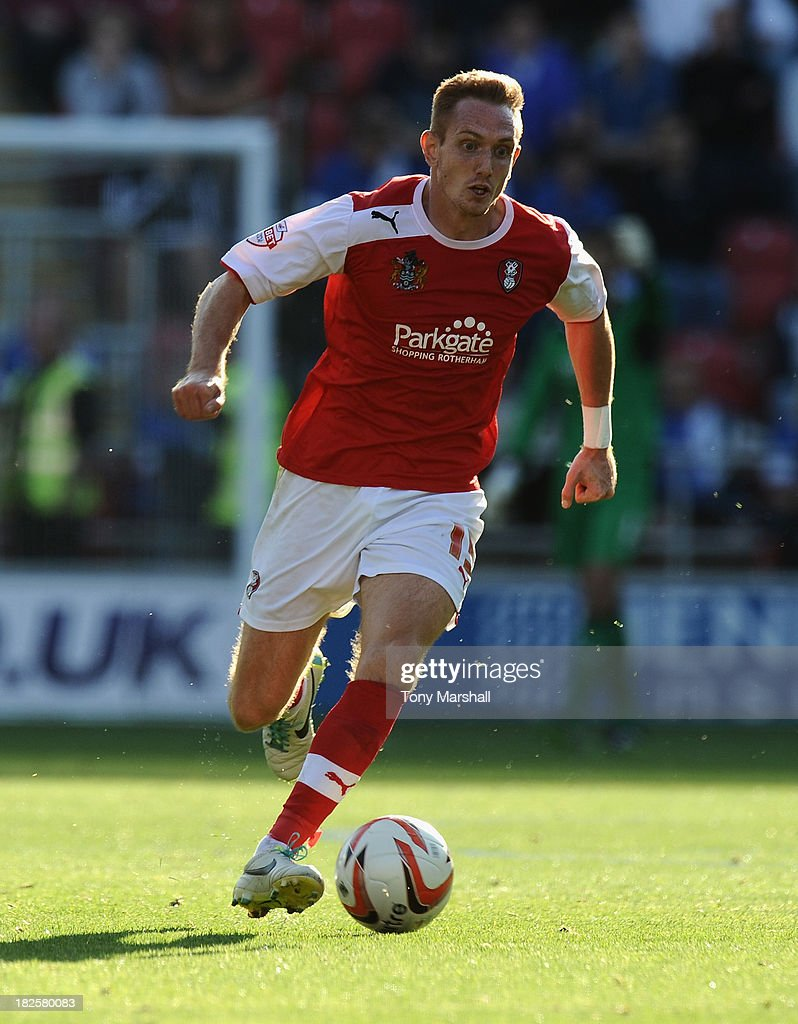 Lee Frecklington of Rotherham United during the Sky Bet League One match between Rotherham United and Peterborough United at The New York Stadium on September 28, 2013 in Rotherham, England.