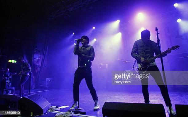 Lee Gaze Ian Watkins and Stuart Richardson of Lostprophets perform at Southampton Guildhall on May 2 2012 in Southampton England