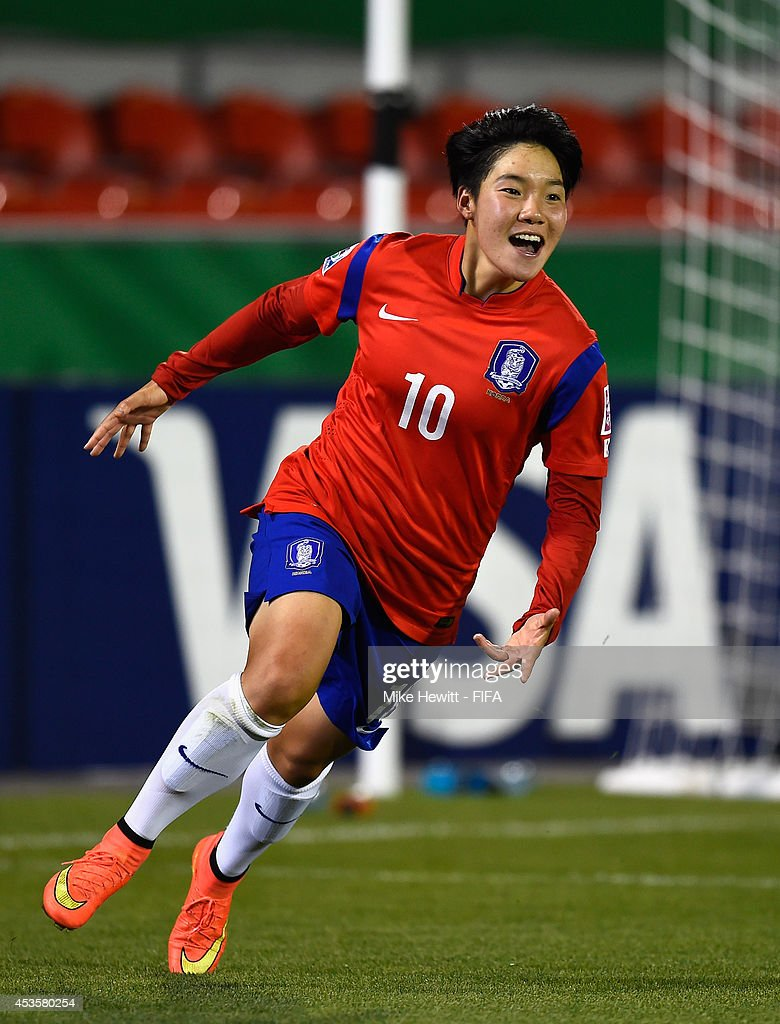 Lee Geummin of Korea Republic in action during the FIFA U-20 Women's World Cup Canada 2014 Group D match between Korea Republic and Mexico at the National Soccer Stadium on August 13, 2014 in Toronto, Canada.