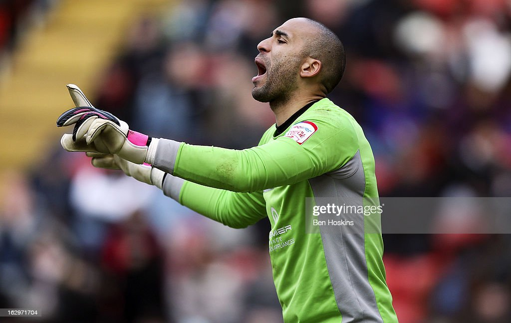 <a gi-track='captionPersonalityLinkClicked' href=/galleries/search?phrase=Lee+Grant+-+Soccer+Player&family=editorial&specificpeople=13060392 ng-click='$event.stopPropagation()'>Lee Grant</a> of Burnley in action during the npower Championship match between Charlton Athletic and Burnley at the Valley on March 02, 2013 in London, England.