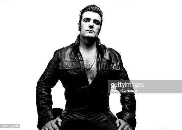 Lee Grindey A part time delivery driver from Stoke on Trent poses during a portrait session at 'The Elvies' on September 22 2017 in Porthcawl Wales...
