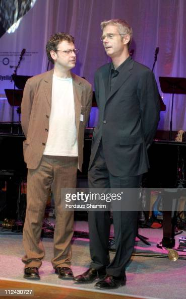 Lee Hall and Stephen Daldry during Photocall For The Opening Of 'Billy Elliot The Musical' at Victoria Palace Theatre in London United Kingdom