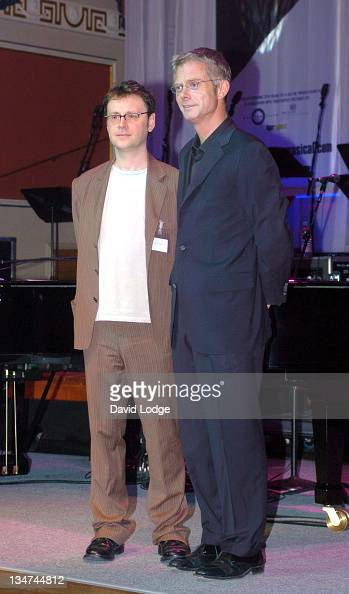 Lee Hall and Stephen Daldry during The Opening of 'Billy Elliot The Musical' Photocall at Victoria Palace Theatre in London Great Britain