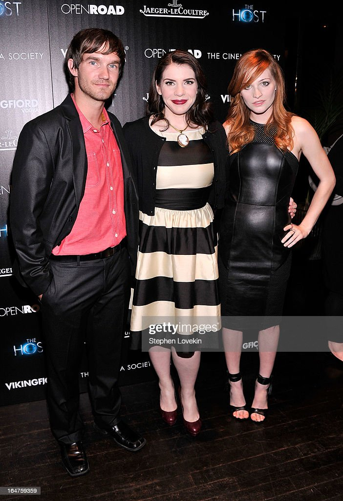 Lee Hardee, Stephenie Meyer and Raeden Greer attend The Cinema Society and Jaeger-LeCoultre Hosts A Screening Of 'The Host' at Tribeca Grand Hotel on March 27, 2013 in New York City.