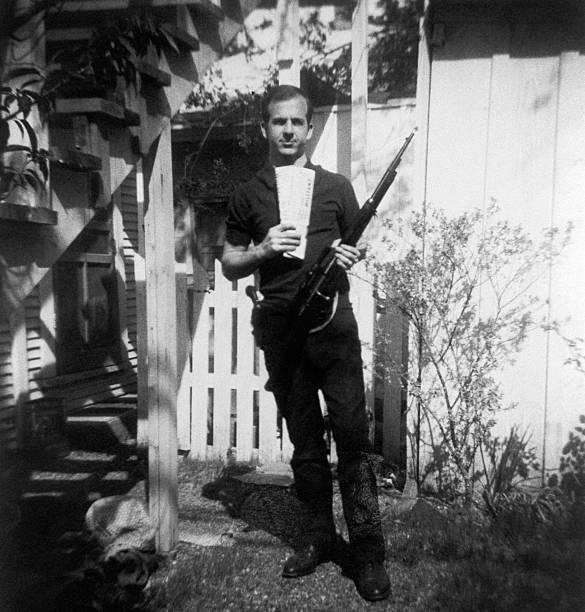 Lee Harvey Oswald Backyard Photograph Pictures   Getty Images