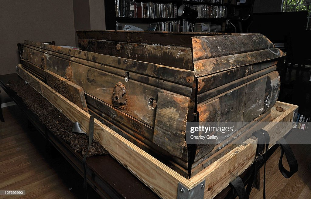 Lee Harvey Oswald's original pine coffin which is being auctioned at Nate D Sanders' is seen at Nate D Sanders' on December 14 2010 in Brentwood...
