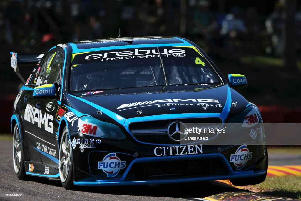 Lee Holdsworth drives the #4 Erebus Motorsport V8 Mercedes during practice for the Triple Crown Darwin, which is round six of the V8 Supercar Championship Series at Hidden Valley Raceway on June 20, 2014 in Darwin, Australia.