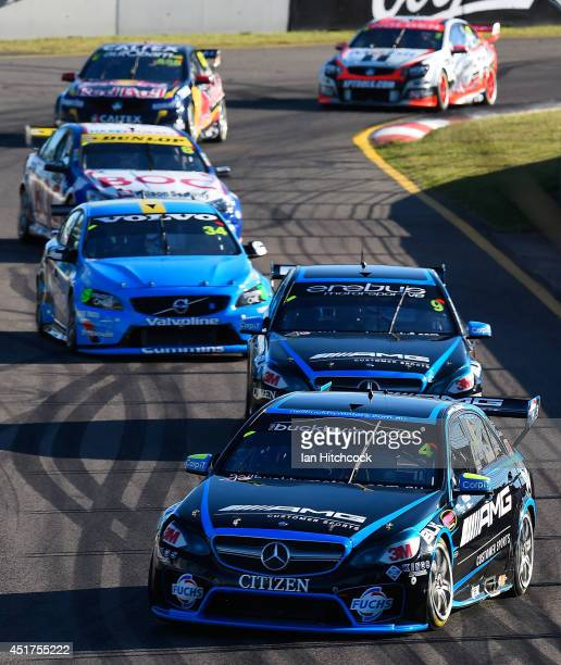 Lee Holdsworth drives the Erebus Motorsport V8 Mercedes during race 22 of the Townsville 500 which is round seven of the V8 Supercar Championship...