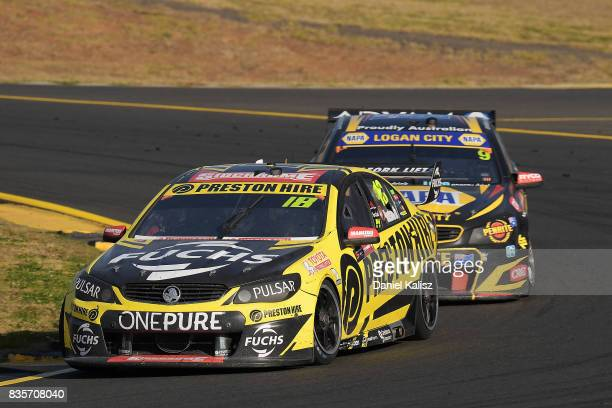 Lee Holdsworth drives the Preston Hire Racing Holden Commodore VF during race 18 for the Sydney SuperSprint which is part of the Supercars...