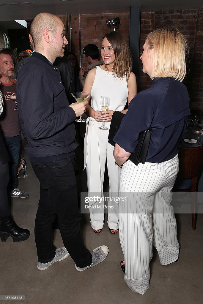 Lee Holmes Gemma Boner and Nick Passmore attend the Whistles menswear launch dinner on April 30 2014 in London England
