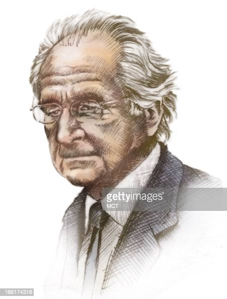 Lee Hulteng color illustration of Bernard Madoff