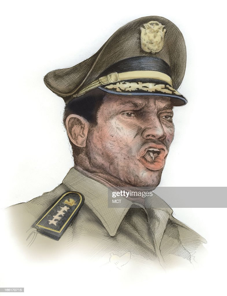 Lee Hulteng illustration of former Panamanian dictator Manuel Noriega.