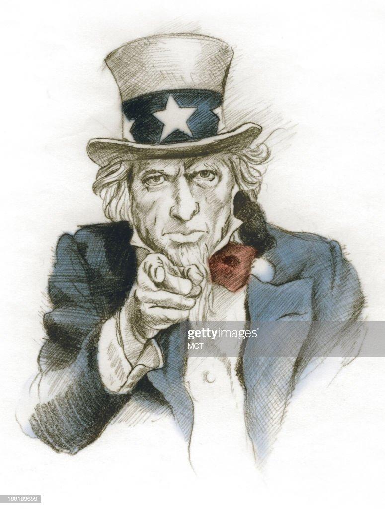 Lee Hulteng llustration of Uncle Sam