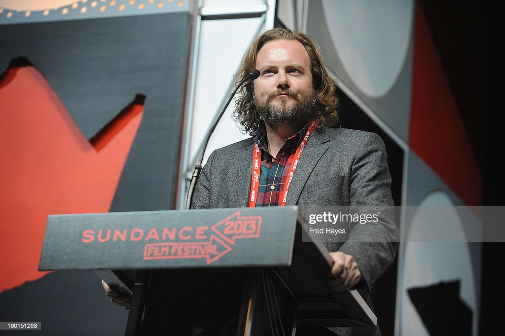 Lee Hunter of YouTube speaks onstage at the Awards Night Ceremony during the 2013 Sundance Film Festival at Basin Recreation Field House on January 26, 2013 in Park City, Utah.