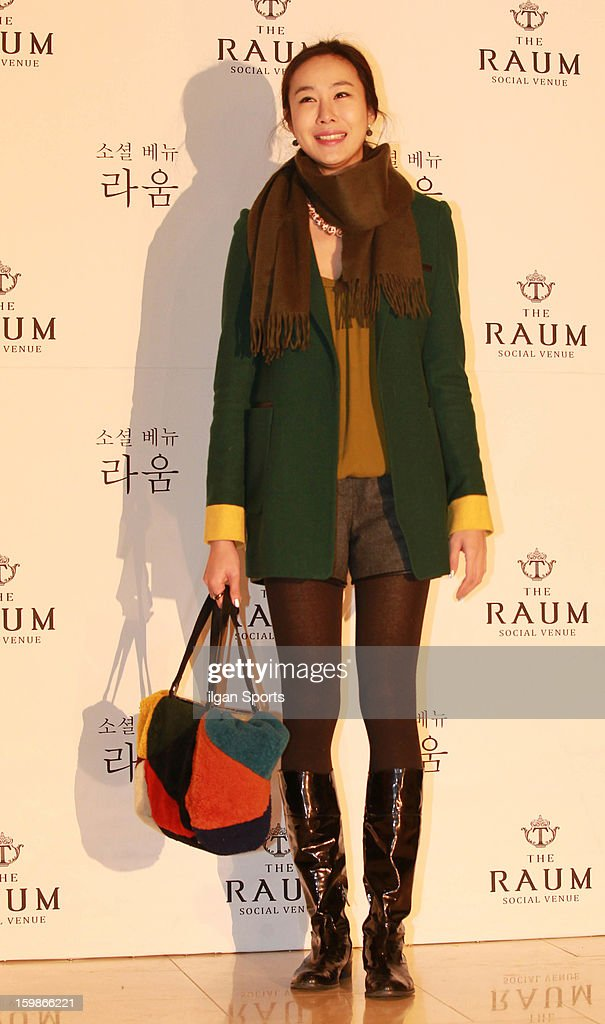Lee Hwa-Sun attends So Yu-Jin's wedding at the Raum on January 19, 2013 in Seoul, South Korea.